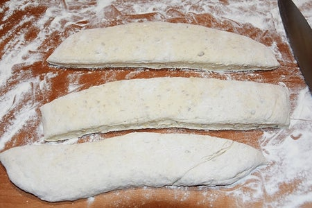 Working Out the Dough and Shaping the Dough to Baguettes