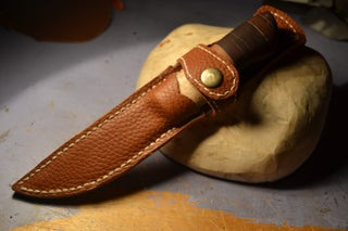 Leather Knife Sheath 7 Steps With Pictures Instructables