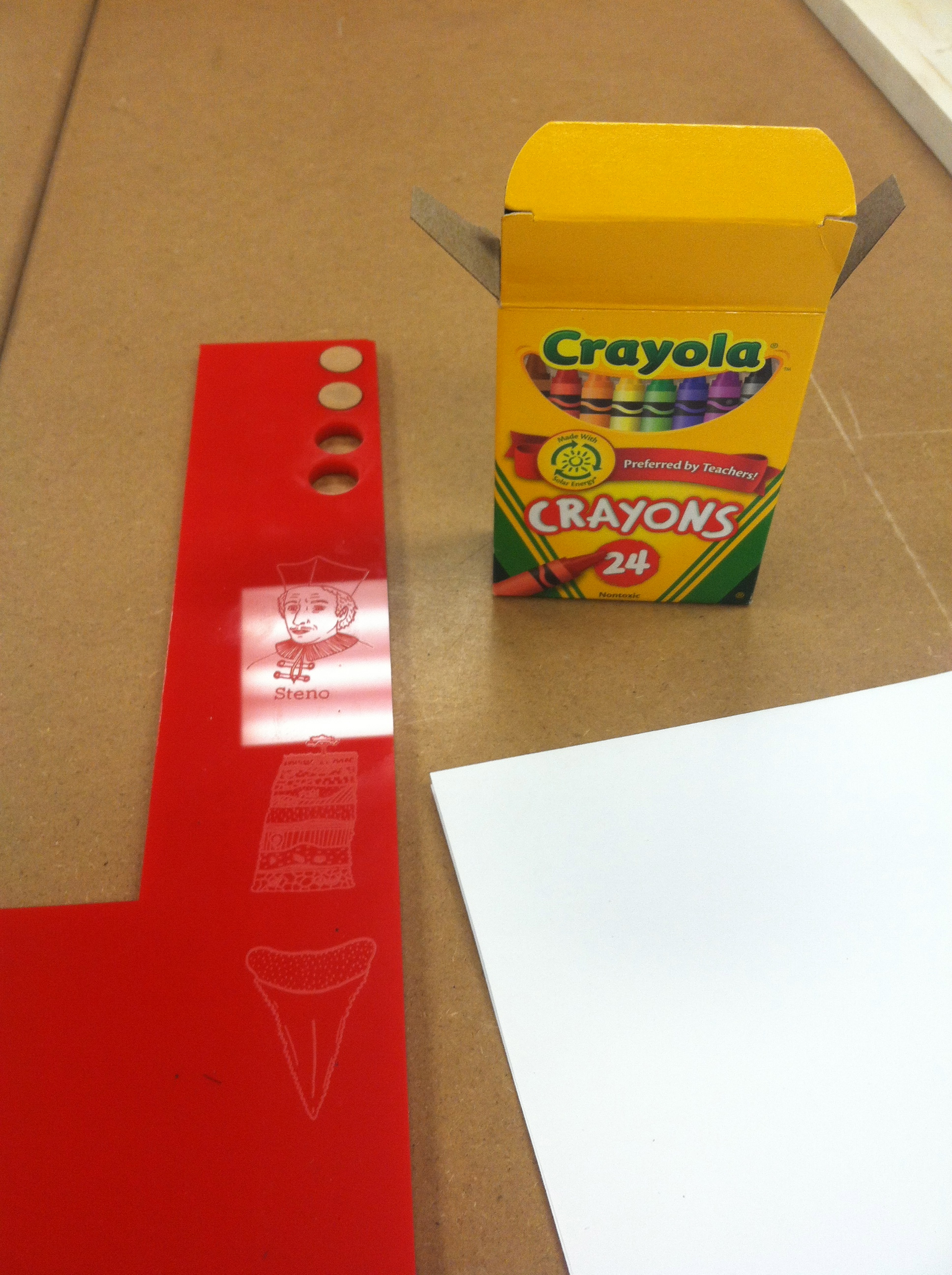 How to color laser cut lines.