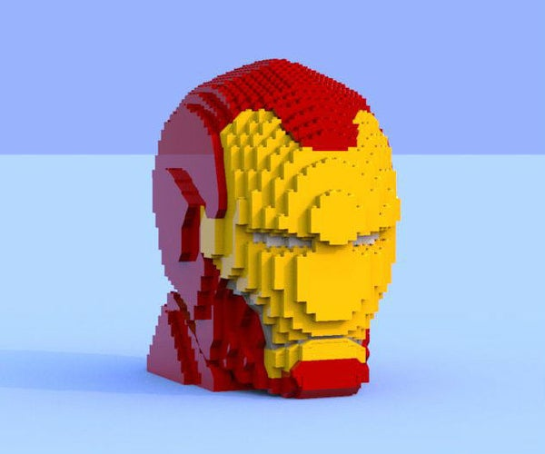 Lego Iron Man Sculpture