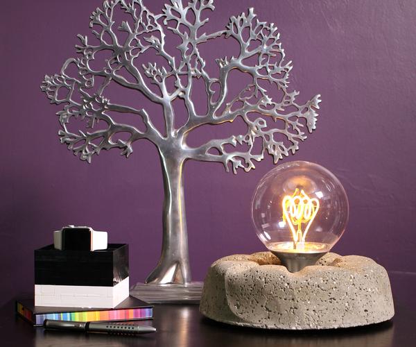Concrete Light Bulb Lamp