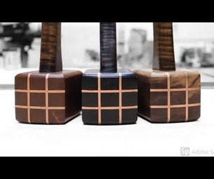 Wood Mallet With Copper Inlays
