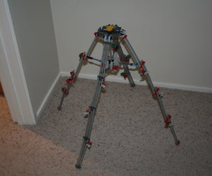 K'nex Tripod With Four Legs - Collapsible!