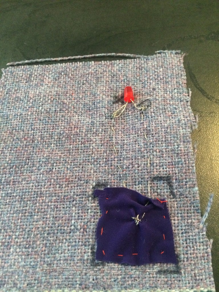 Sew Conductive Thread to LED