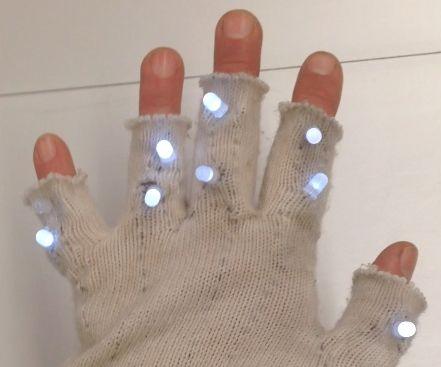 LED Proximity Sensor Glove