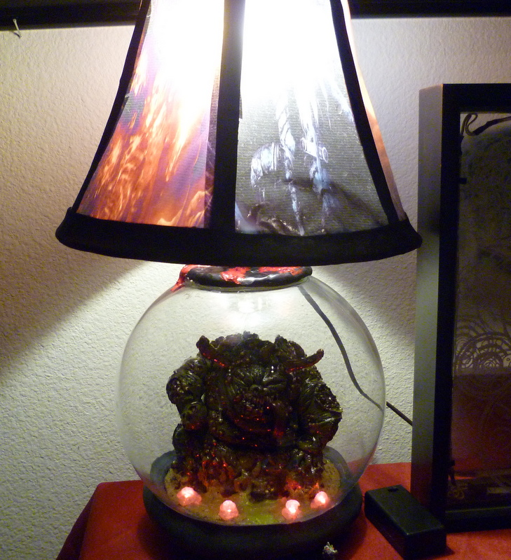 Clay Great Unclean One Lamp with Dark Souls Shade