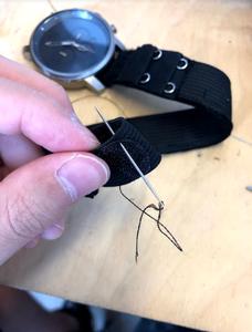 Sew Velcro Onto the Loop