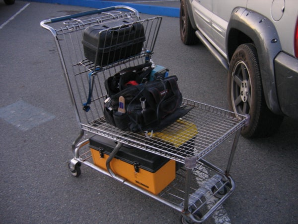 Chop a Shopping Cart Into a Tool Cart. Simple!