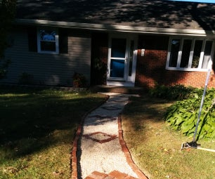 Improve Your Yard! Make a Brick and Stone Walkway