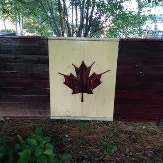 True Patri-Art Love - My Wood Canadian Flag