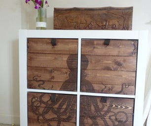 Laser Etched Draws for Ikea Expedit