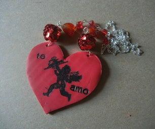 Stamped Valentine Necklace