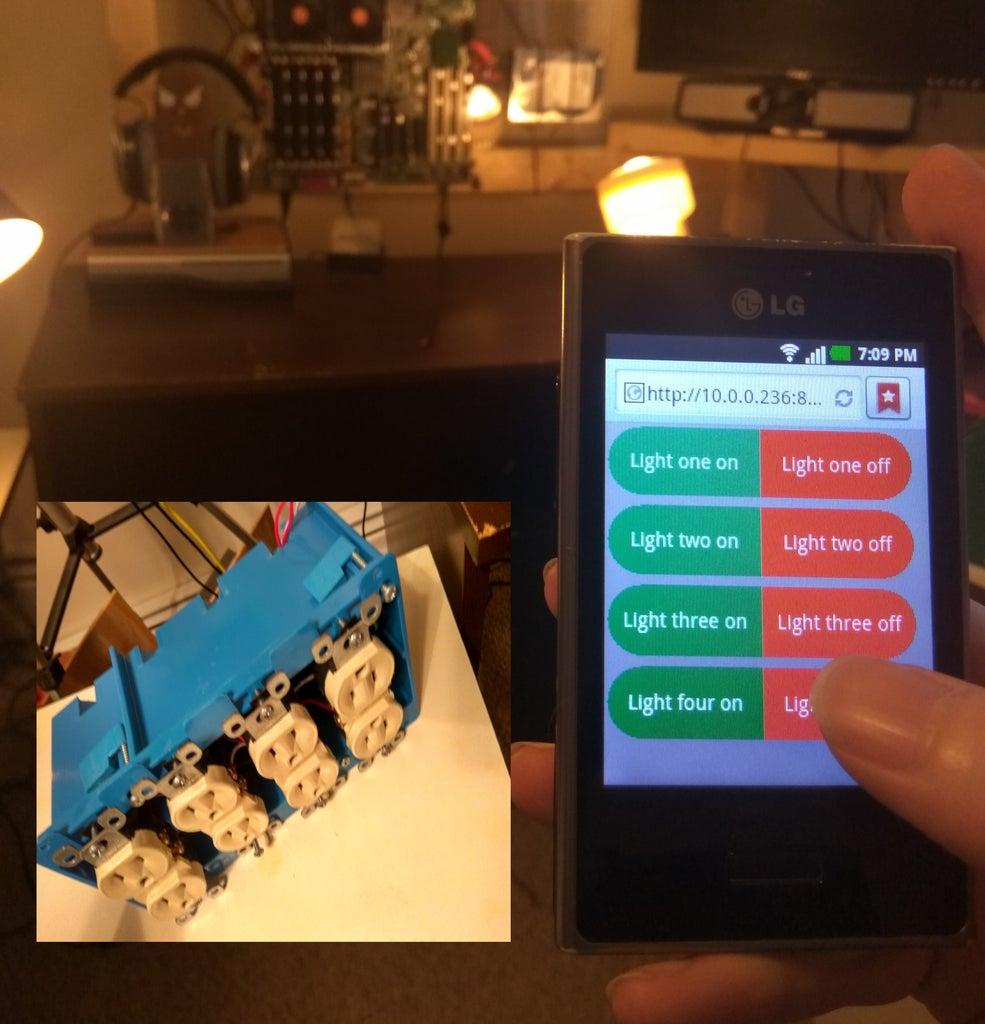 Web-app Controlled Lighting