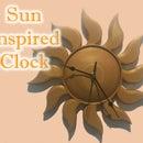Sun Inspired Clock (Orange)
