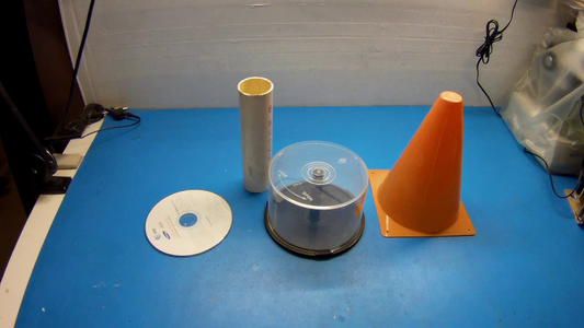 Building the Cyclonic Separator Out of CD Cases and Toy Traffic Cone