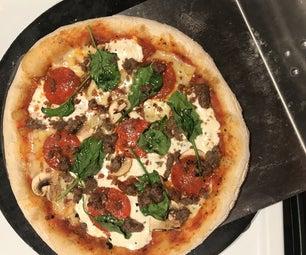 简单的那不勒斯披萨 - 在我们的壁炉!