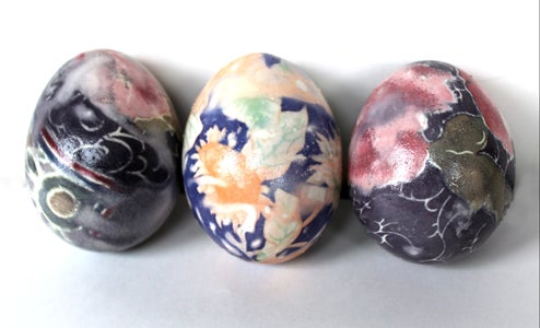 How to 'Dye' Easter Eggs With Silk Ties