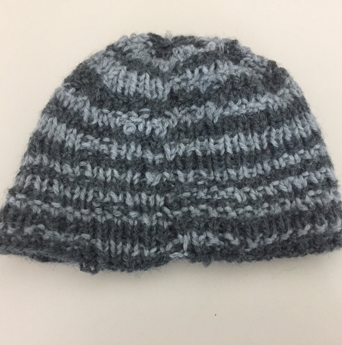 First hat: Shaping the crown