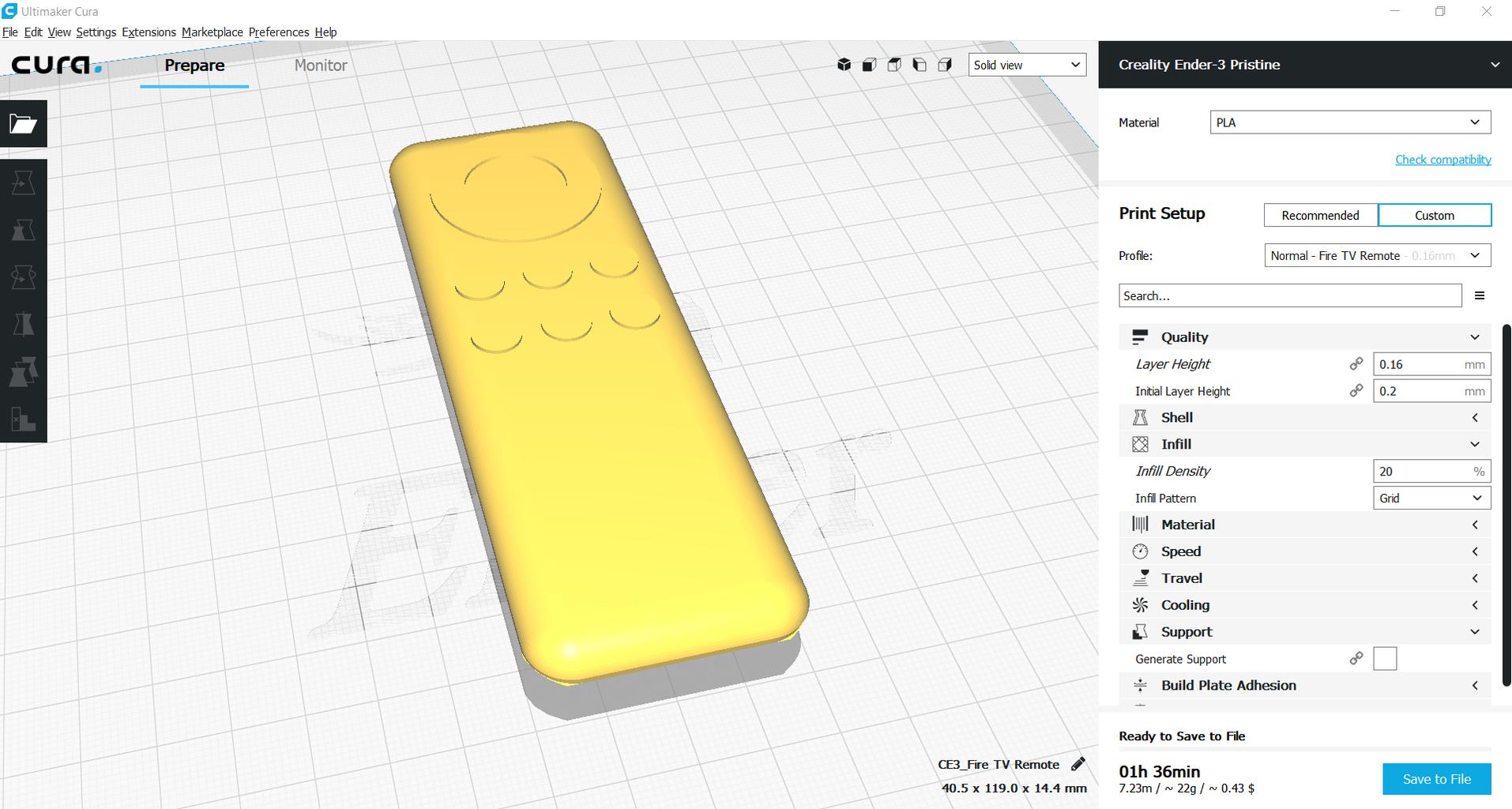 3D Printing the Prototype