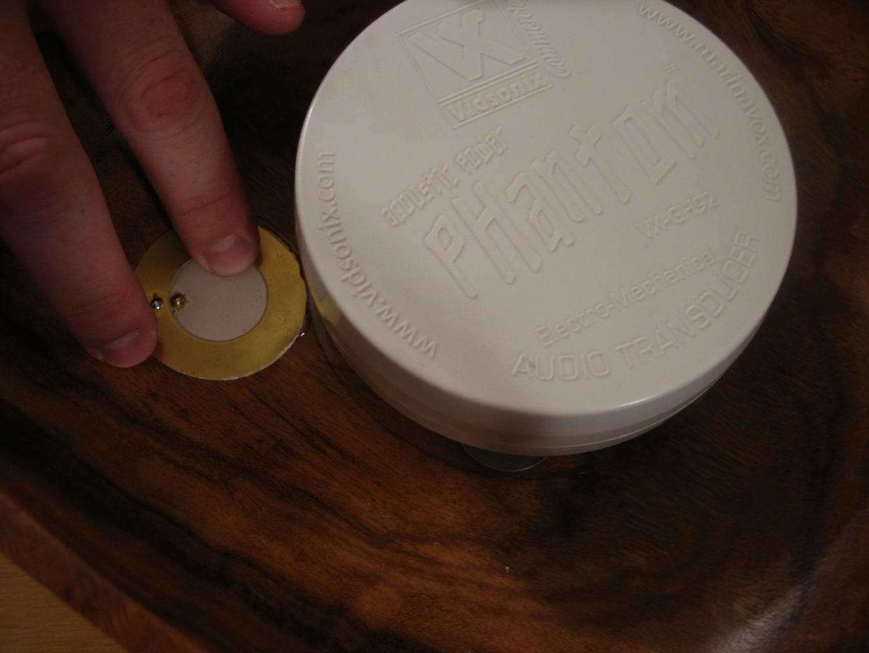 Glue the Piezo to the Bowl