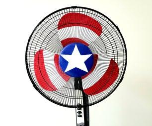 Captain America's Spinning Shield (in a Pedestal Fan)