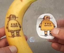 Tattoo a Banana (Oxidation Art)