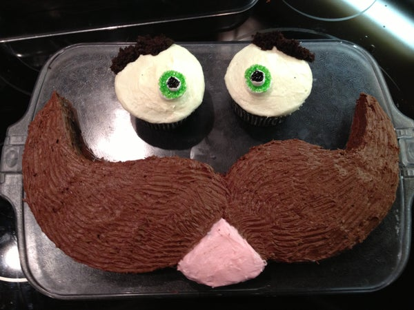 How to Make a Mustache Face Cake