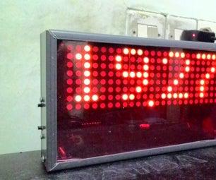 DIY Cassing Digital Clock Dot Matrix With Canal U Cable Instalation