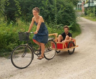 Easy Wooden Bike Trailer