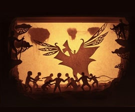 The Return of Toruk Makto - AVATAR Inspired Paper-cut Lightbox