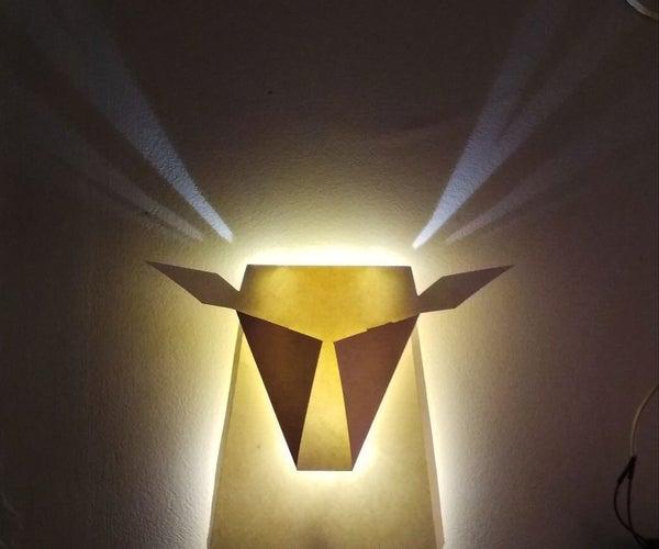 Paper Deer Lamp