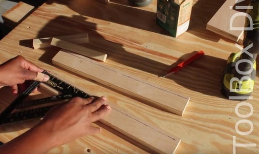 ATTACH THE LEDGES TO THE UPPER AND LOWER RAILS OR APRONS.