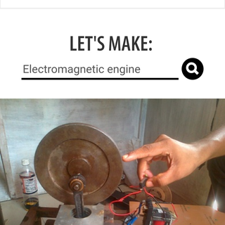 Simple Electromagnetic Engine Using Piston and Flywheel