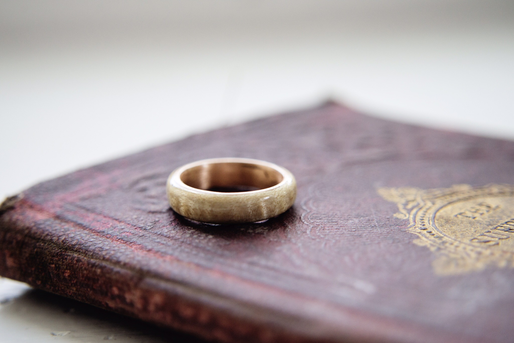 Wood And Penny Ring W/ Pallet Box