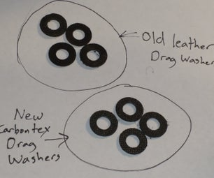 Make Carbontex Drag Washers From Sheet Stock