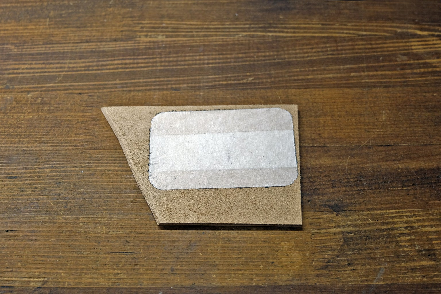 Make a Blank Insert of Leather