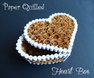 Upcycled Paper Heart Box