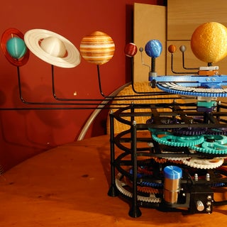 8 Planet Motorized Orrery - 3D Printed
