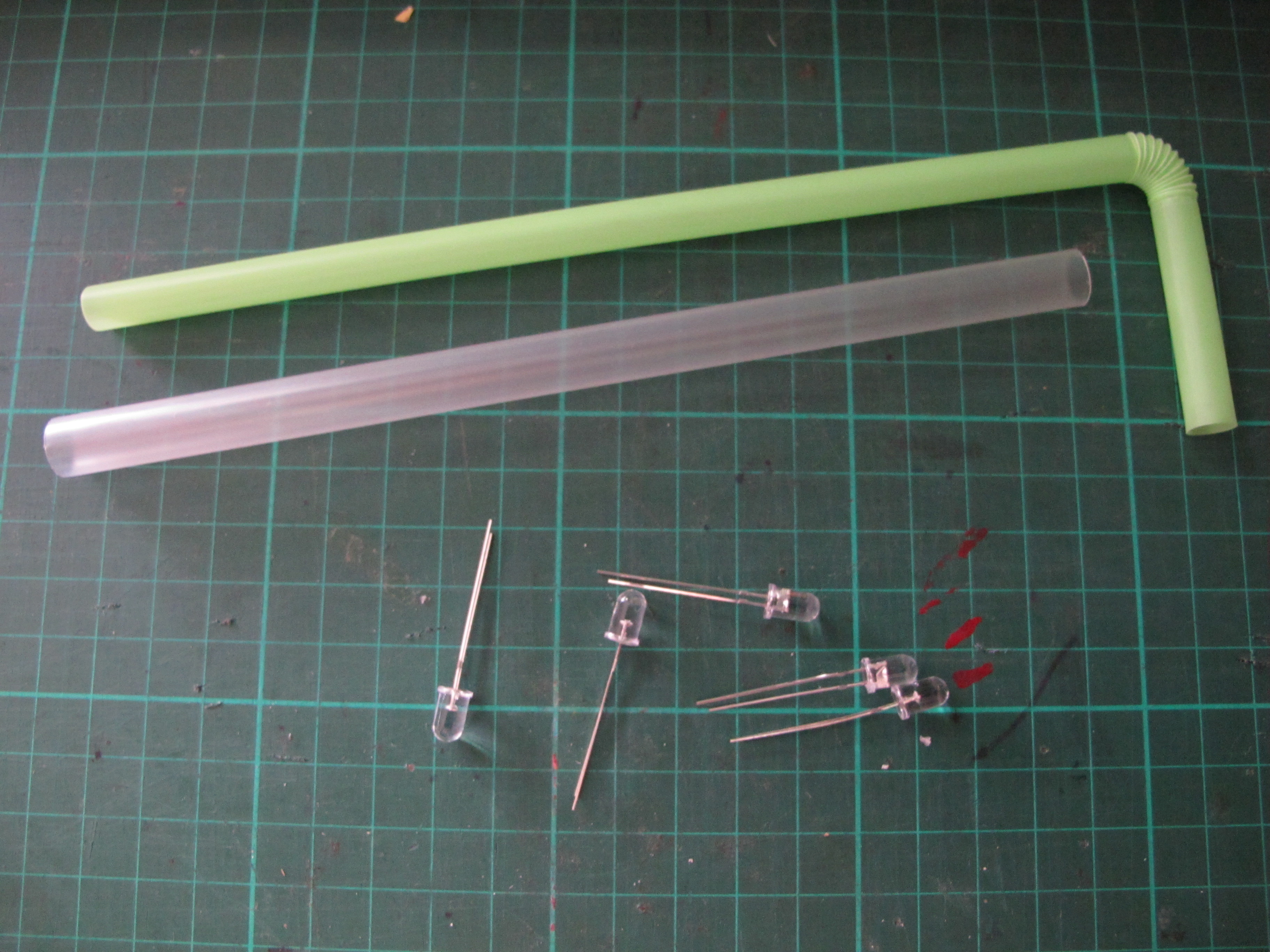 Drinking Straw - electronic components storage system