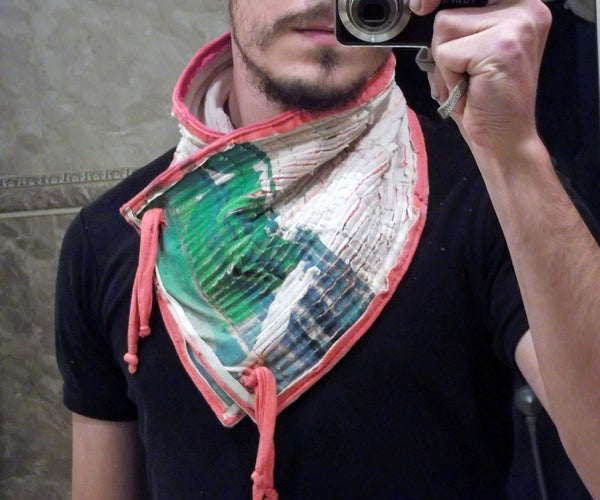 Boro Inspired Neck Warmer From Old T-Shirts