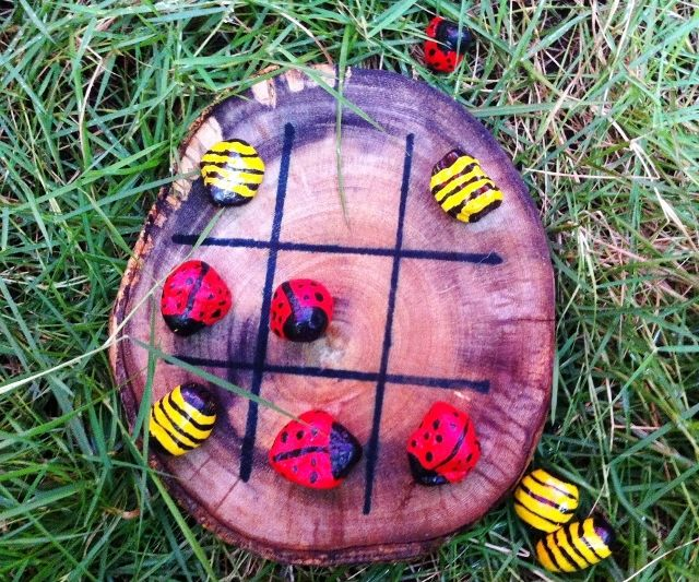 Fun Rustic Tic Tac Toe