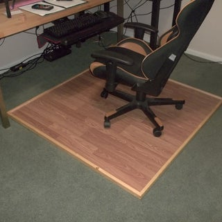 Wooden Chair Mat 6 Steps With, Office Chair On Laminate Flooring
