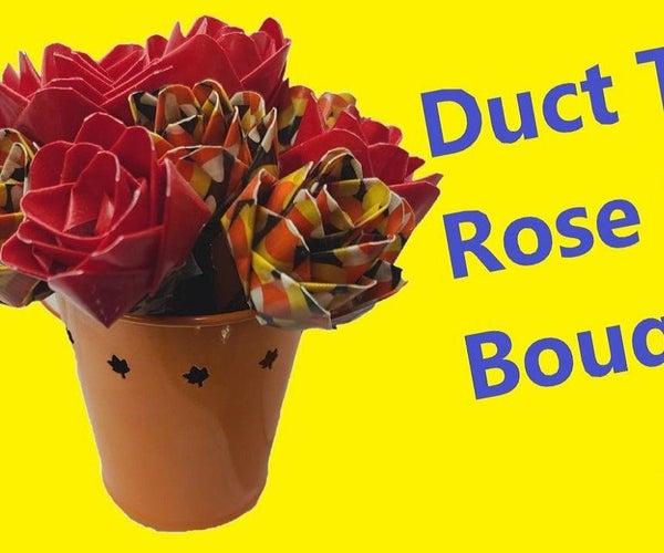 Duct Tape Rose Pen Bouquet