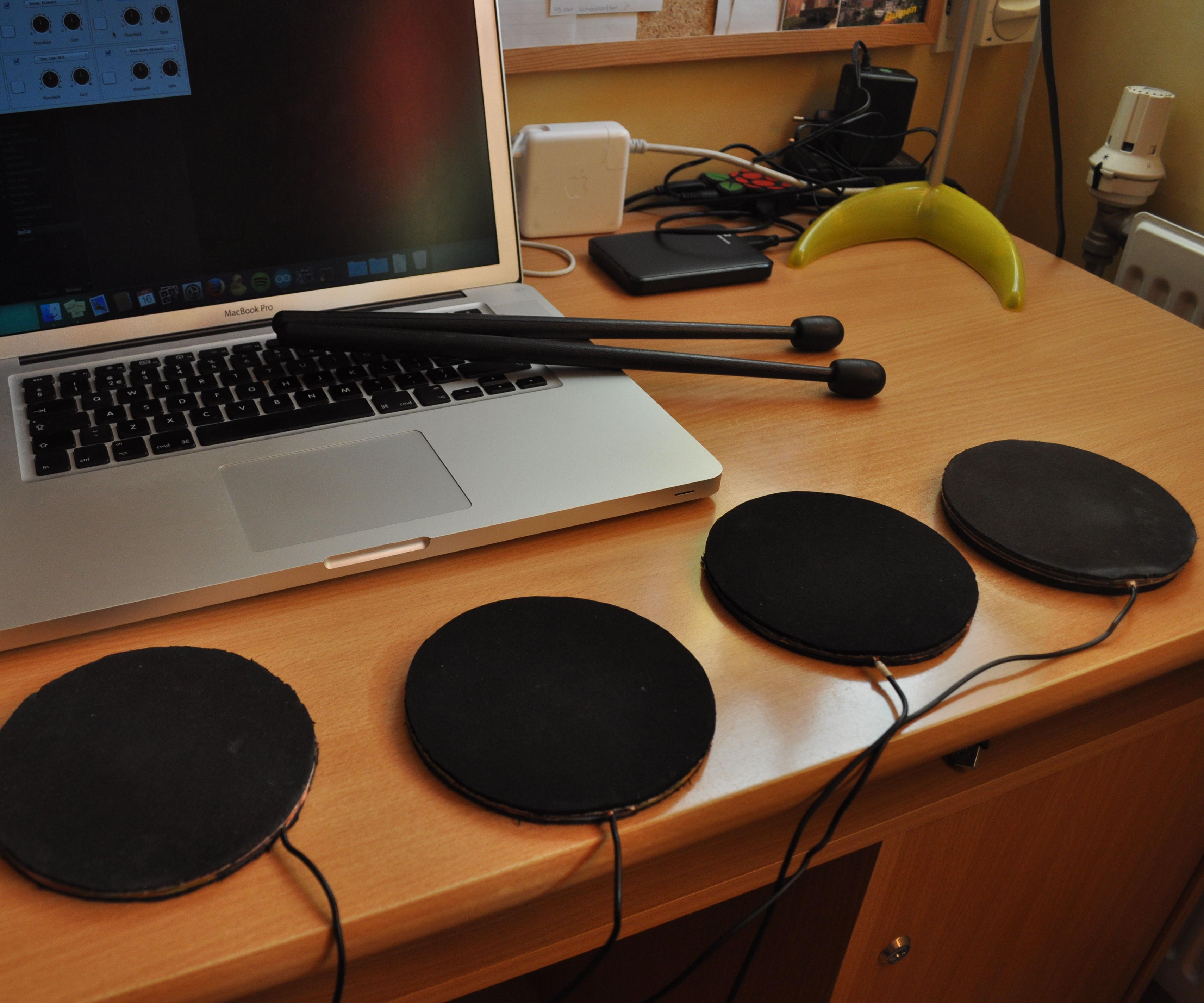 MIDI Arduino Drums