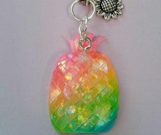 Rainbow Pineapple Charm