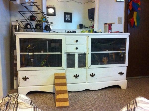 Old Dresser Transformed Into a Rat Condo