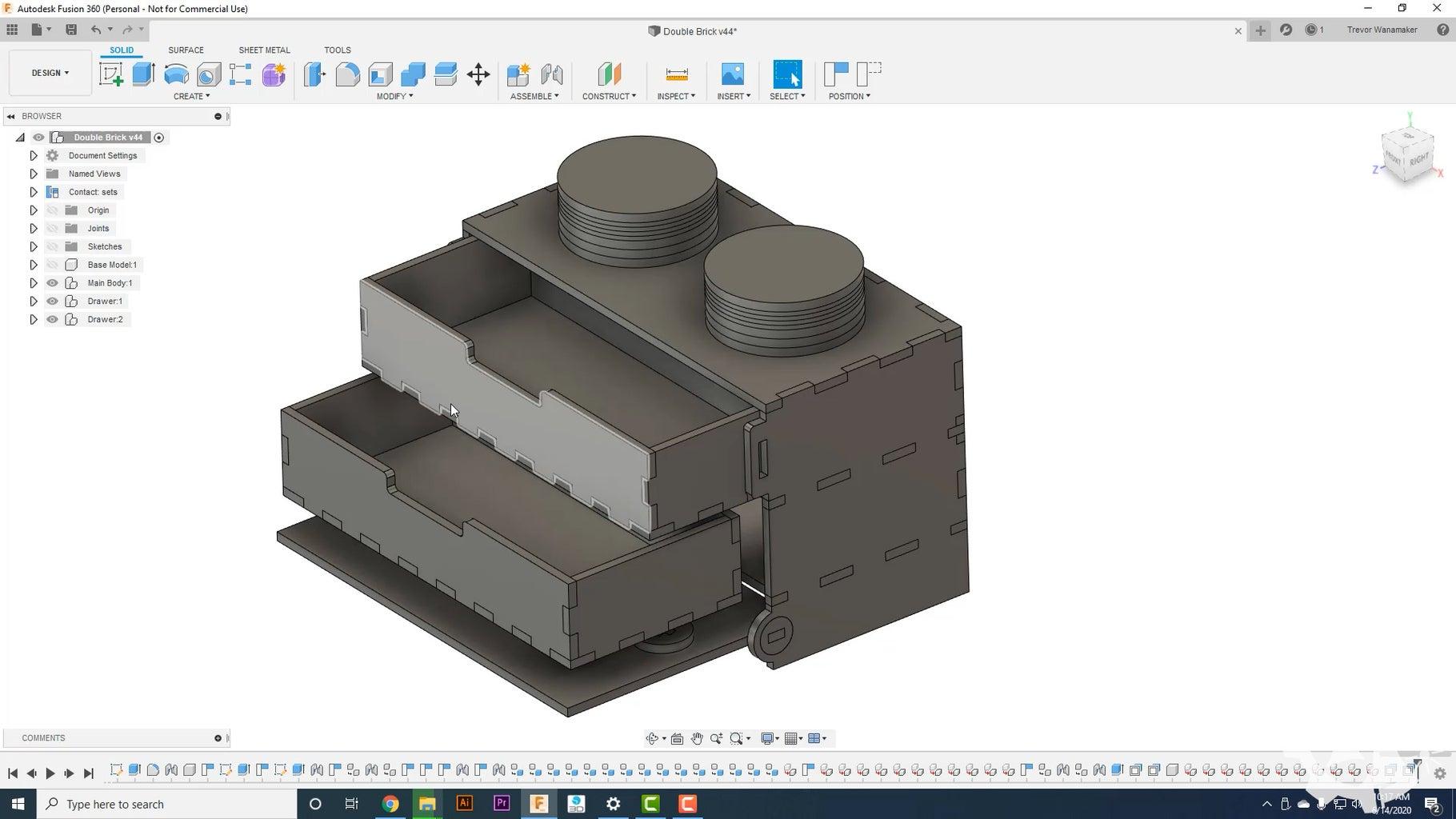 Designing the Lego Brick