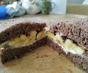 香蕉巧克力三明治