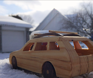 Wooden BMW Station Wagon
