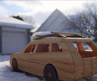 Wooden BMW Station Wagon